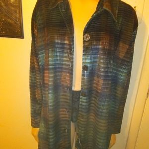 resource 18/20 polyester long sleeve button up nig